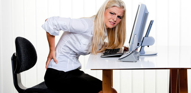 Cover Desk Worker Back Pain