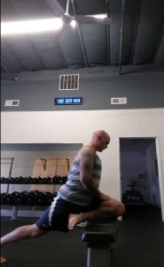 Pigeon Full Front on Inclined Surface Angle Decreased Knee Angle Final